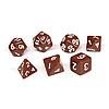 Набор кубиков Единорог коричневый, D4 D6ц D8 D10 D12 D20 D%