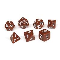 Набор кубиков Единорог коричневый, D4 D6ц D8 D10 D12 D20 D%, фото 1