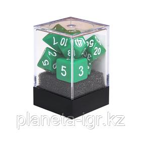 Набор кубиков Единорог зеленый, D4, D6ц, D8, D10, D12, D20, D%