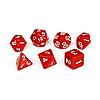 Набор кубиков Единорог красный, D4 D6ц D8 D10 D12 D20 D%