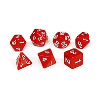 Набор кубиков Единорог красный, D4 D6ц D8 D10 D12 D20 D%, фото 1