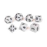 Набор кубиков Единорог белый, D4, D6ц, D8, D10, D12, D20, D%, фото 1
