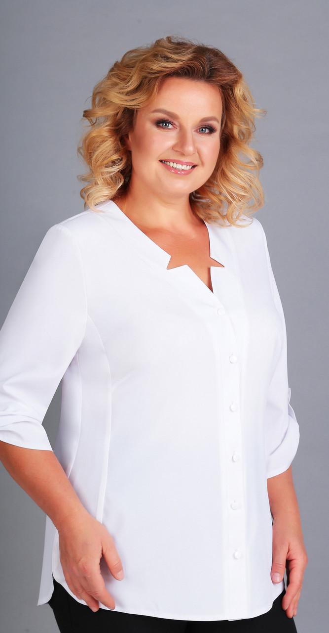 Блузка Асолия-4049, белый, 52