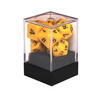 Набор кубиков Единорог желтый, D4, D6ц, D8, D10, D12, D20, D%, фото 1