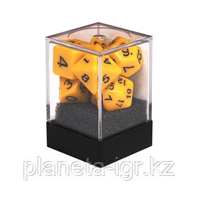 Набор кубиков Единорог желтый, D4, D6ц, D8, D10, D12, D20, D%