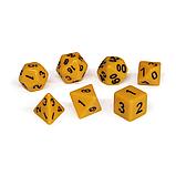 Набор кубиков Единорог желтый, D4, D6ц, D8, D10, D12, D20, D%, фото 2