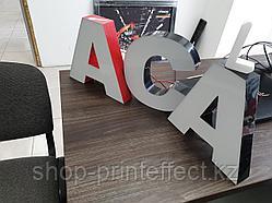 Объемные буквы с алюминиевым бортом