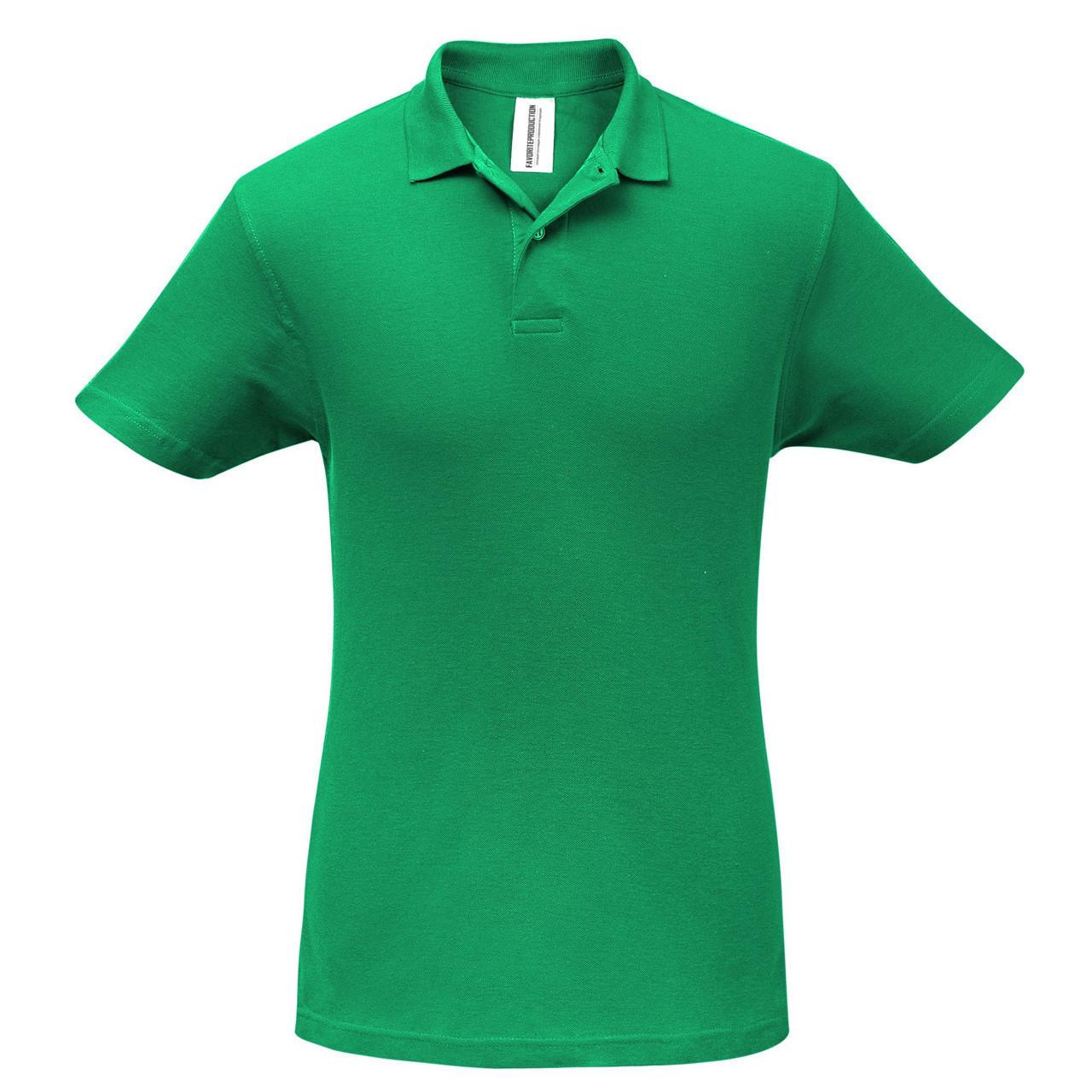 Футболка Поло Зеленая.200 гр.XL