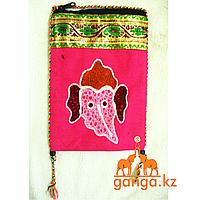 Сумочка-кошелек на шею с вышивкой (Код 0447)