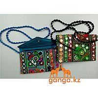 Клатч из ткани с вышивкой (1,2,3,4,5,6), 20*15см
