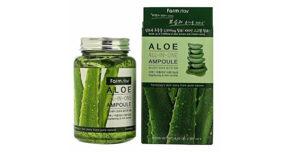Сыворотка Farm Stay Aloe 250 ml.