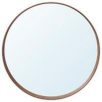 Зеркало СТОКГОЛЬМ диаметр 80 см шпон грецкого ореха ИКЕА, IKEA