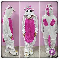 Пижама кигуруми пегас розовый с крыльями