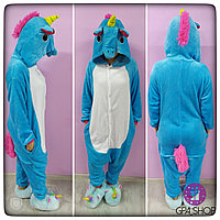 Пижама кигуруми Единорог голубой