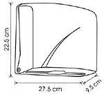 Диспенсер для листовых бумажных полотенец Z укладки Vialli K1В (черного цвета), фото 3