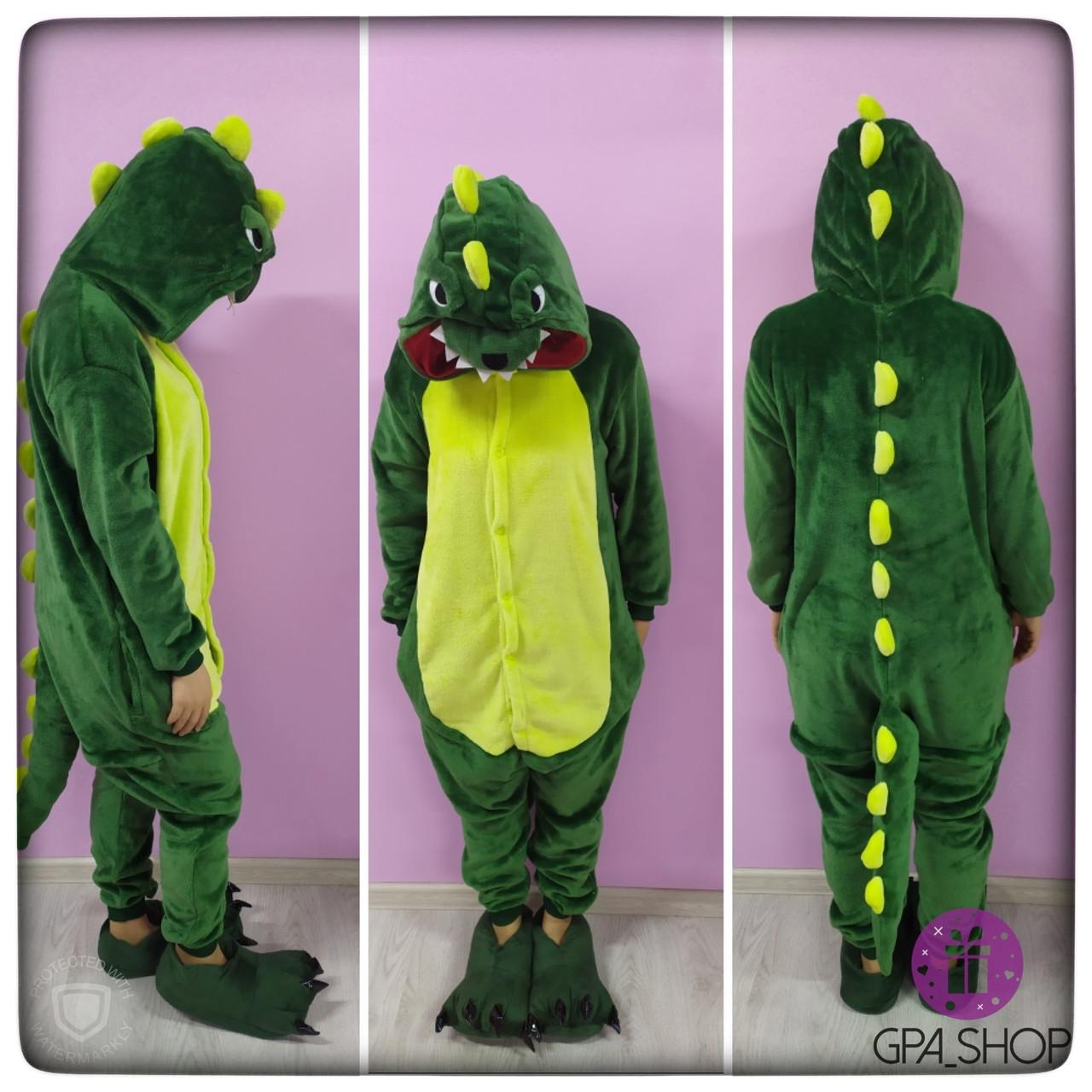 Детская пижама кигуруми динозавр