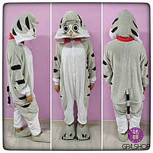 Пижама кигуруми серая кошка