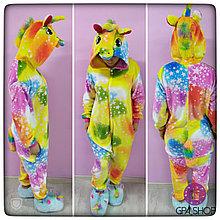 Взрослая пижама кигуруми радужно-звёздный