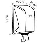 Диспенсер для рулонных бумажных полотенец центральной вытяжки Vialli, чёрного цвета, фото 3