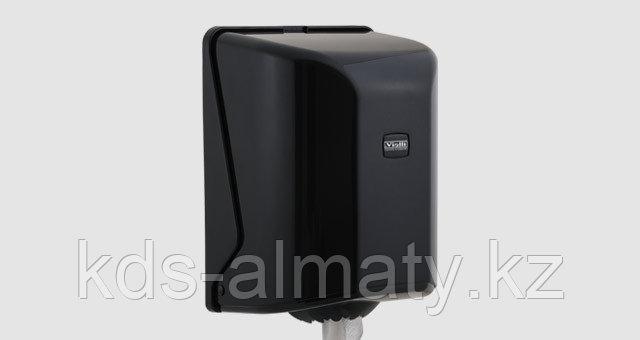 Диспенсер для рулонных бумажных полотенец центральной вытяжки Vialli, чёрного цвета