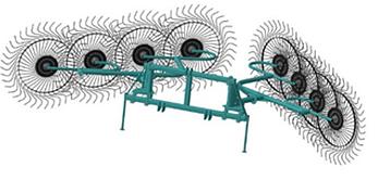 Усиленные грабли-ворошилки 6.3м типа OGR 8ми дисковые, фото 2