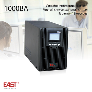 Источник бесперебойного питания интерактивный EA600, 1000ВА/800Вт