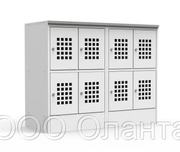 Шкаф для сумок горизонтальный 8 ячеек со столешницей (1200х500х970) арт. ШМС24/30