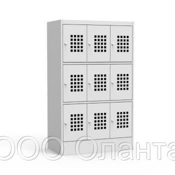 Шкаф металлический для сумок 9 ячеек (900х500х1500) арт. ШМС33/30