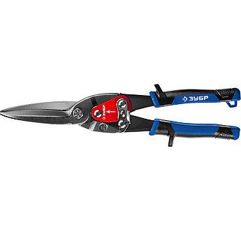 (23130-SL) ЗУБР Ножницы по металлу КАТРАН, прямые удлинённые, Cr-Mo, 300 мм, серия Профессионал