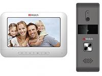 Комплект цветного видеодомофоны с вызывной панелью Hiwatch DS-D100KF
