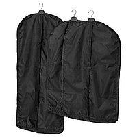 Чехол для одежды СКУББ 3 шт черный ИКЕА, IKEA