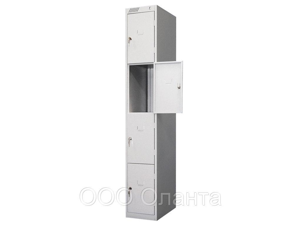 Шкаф металлический для сумок 4 ячейки (300х500х1850) арт. ШРС14/300