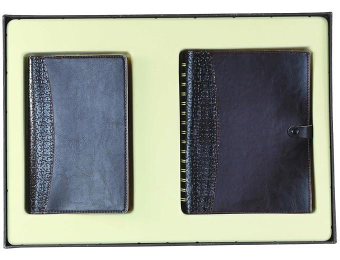 Набор из ежедневника и картвизитницы на три файла
