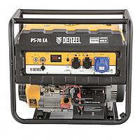 Генератор бензиновый PS 70 EA, 7,0 кВт, 230В, 25л, коннектор автоматики, электростартер// Denzel, 946894, фото 1
