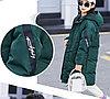 Куртка удлинённая демисезонная для девочек от 5 до 12 лет, изумрудная.