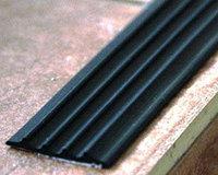 Накладка-окантовка резиновая без клеевого слоя, плоская, черная, фото 1