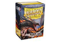 Протекторы Dragon shield матовые, цвет:Черный, DS Sleeves: Matte Black, фото 1