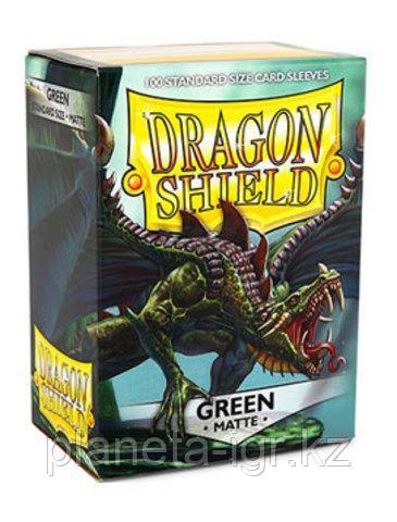 Протекторы Dragon shield матовые, цвет:Зеленый, DS Sleeves: Matte Green