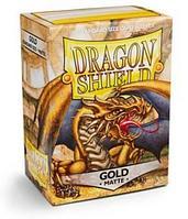 Протекторы Dragon shield матовые, цвет:Золотой, DS Sleeves: Matte Gold