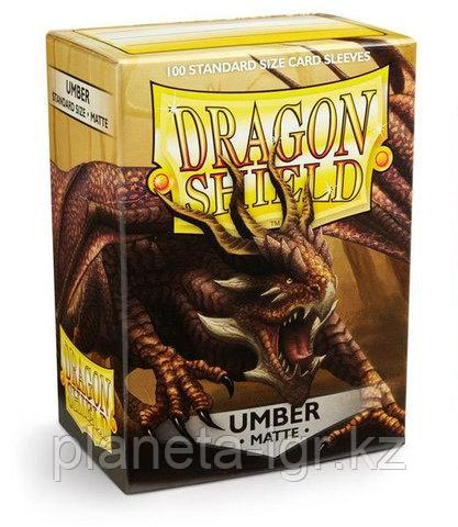Протекторы Dragon shield матовые, цвет:Коричневый Umber, DS Sleeves: Matte Umber