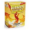 Протекторы Dragon shield матовые, цвет:Желтый, DS Sleeves: Matte Yellow