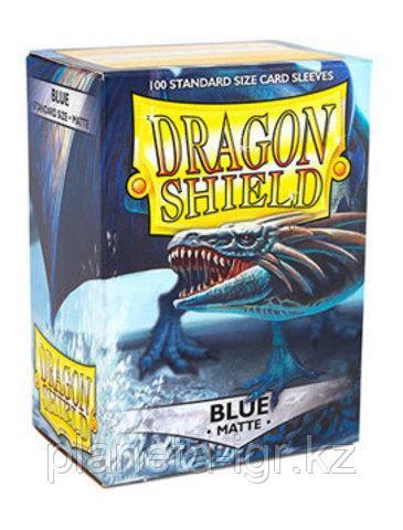Протекторы Dragon shield матовые, цвет:Синий, DS Sleeves: Matte Blue