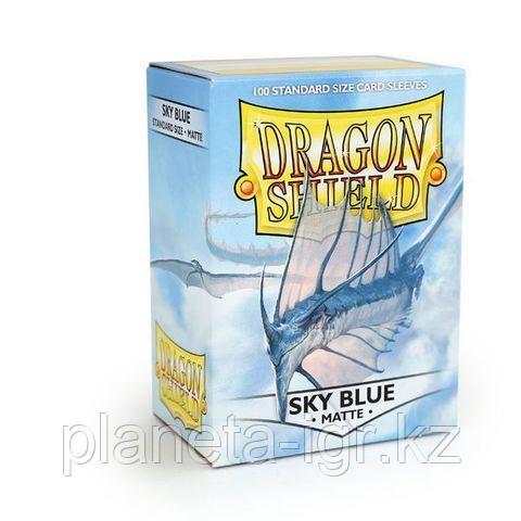 Протекторы Dragon shield матовые, цвет:Небесно-белый, DS Sleeves: Matte Sky blue