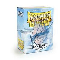 Протекторы Dragon shield матовые, цвет:Небесно-белый, DS Sleeves: Matte Sky blue, фото 1