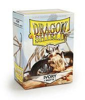 Протекторы Dragon shield матовые, цвет:Слоновая кость, DS Sleeves: Matte Ivory, фото 1
