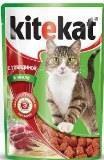 Kitekat Говядина в Желе Китекат Консервы для кошек, пауч 85г