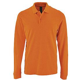 Футболка поло с длинным рукавом | Оранжевая | 200 г/м² L