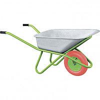 Тачка садово-строительная с PU колесом, грузоподъемность 180 кг, объем 90 л Сибртех, фото 1