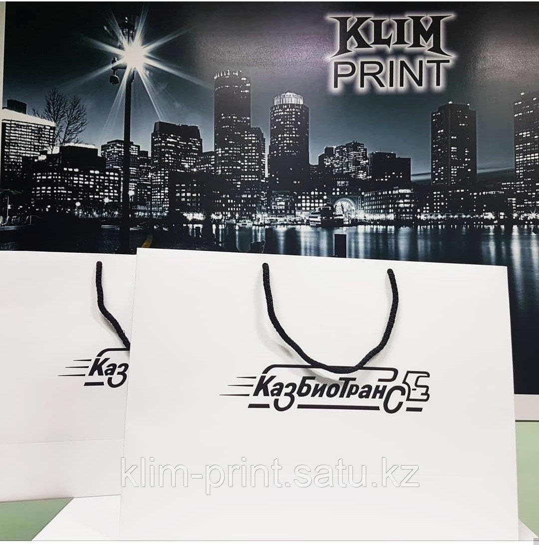Бумажные пакеты,изготовление бумажных пакетов, изготовление ,печать пакетов в Алматы