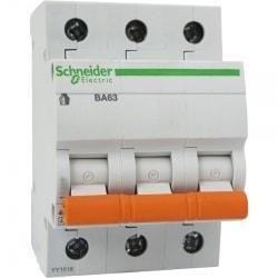 Автоматический выключатель 11211 ВА 63 (3ф) 20А Schneider